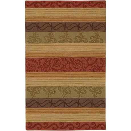 Scroll Stripes Multi Rug