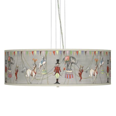 "Circus Time Giclee 24"" Wide 4-Light Pendant Chandelier"