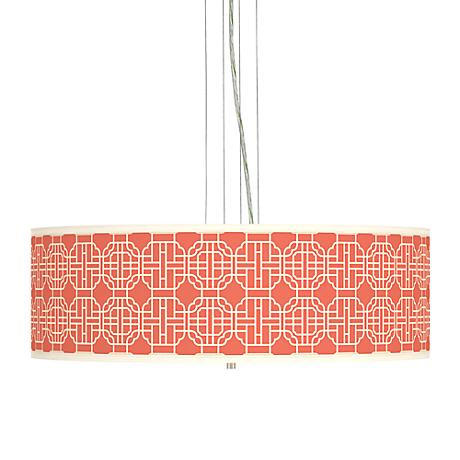 "Mandarin Giclee 24"" Wide 4-Light Pendant Chandelier"