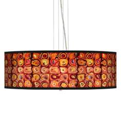 "Vibrating Colors 24"" Wide 4-Light Pendant Chandelier"