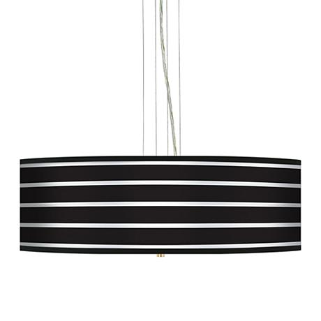 Bold Black Stripe 24 Quot Wide 4 Light Pendant Chandelier