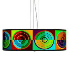 "Circle Parade 24"" Wide 4-Light Pendant Chandelier"
