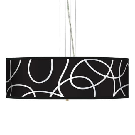"Abstract 24"" Wide 4-Light Pendant Chandelier"