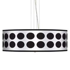 "Black Orbs 24"" Wide 4-Light Pendant Chandelier"