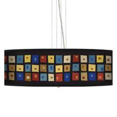 "Palette Squares 24"" Wide 4-Light Pendant Chandelier"