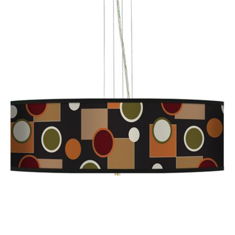"Retro Medley 24"" Wide 4-Light Pendant Chandelier"