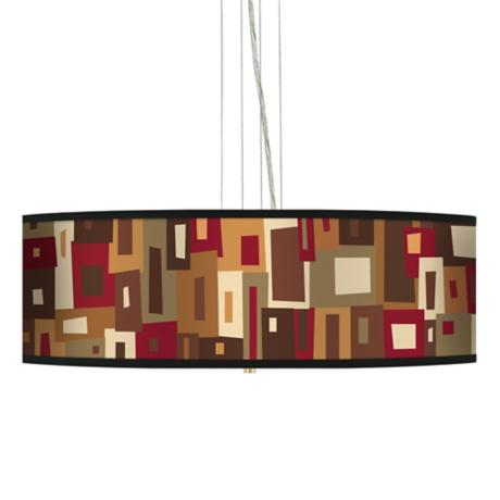 "Earth Palette 24"" Wide 4-Light Pendant Chandelier"