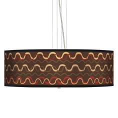 "Wave Stitch 24"" Wide 4-Light Pendant Chandelier"