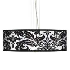 "Black Tapestry  24"" Wide 4-Light Pendant Chandelier"