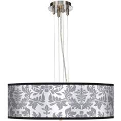 "Gray Flourish 24"" Wide 4-Light Pendant Chandelier"