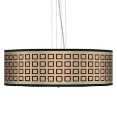 "Simply Squares 24"" Wide 4-Light Pendant Chandelier"