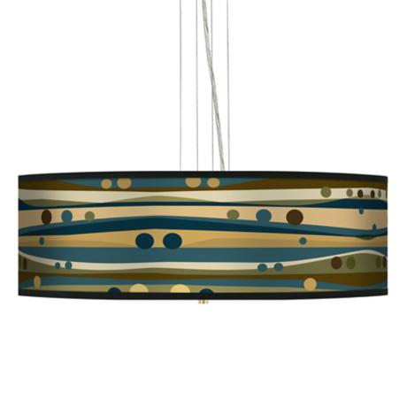 "Dots and Waves 24"" Wide 4-Light Pendant Chandelier"