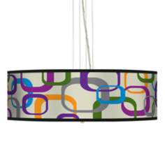 "Square Scramble 24"" Wide 4-Light Pendant Chandelier"