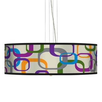 Square Scramble 24 Wide 4-Light Pendant Chandelier (17276-H9925)