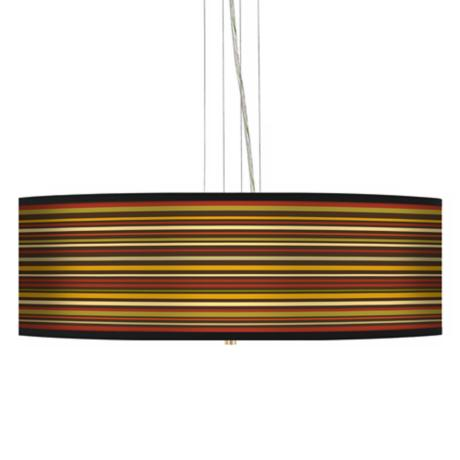 "Stacy Garcia Spice Stripe 24"" Wide 4-Light Pendant Lights"