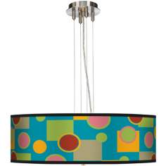 "Vibrant Retro Medley 24"" Wide 4-Light Pendant Chandelier"