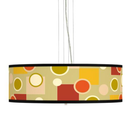 "Retro Citrus Medley 24"" Wide 4-Light Pendant Chandelier"