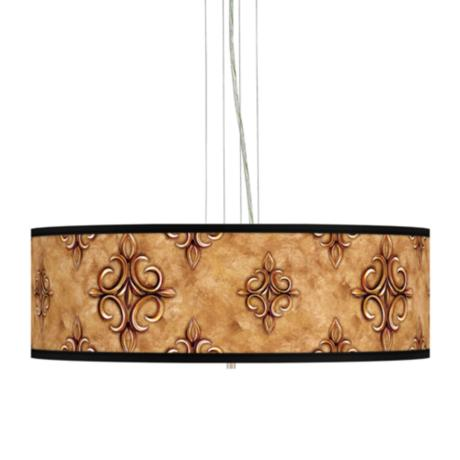 "Estate Nutmeg 24"" Wide 4-Light Pendant Chandelier"