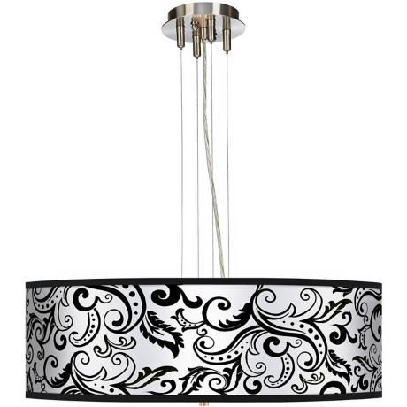 "Regency Black 24"" Wide 4-Light Pendant Chandelier"