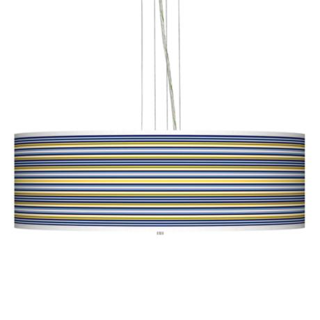 "Charleston Stripes 24"" Wide Four Light Pendant Chandelier"