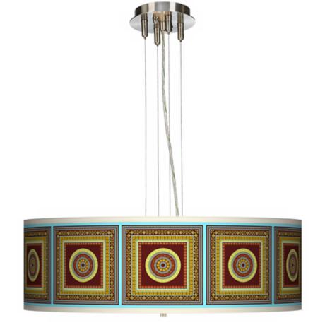 "Stacy Garcia Tiber Medallion Garnet 24"" Wide Pendant Light"