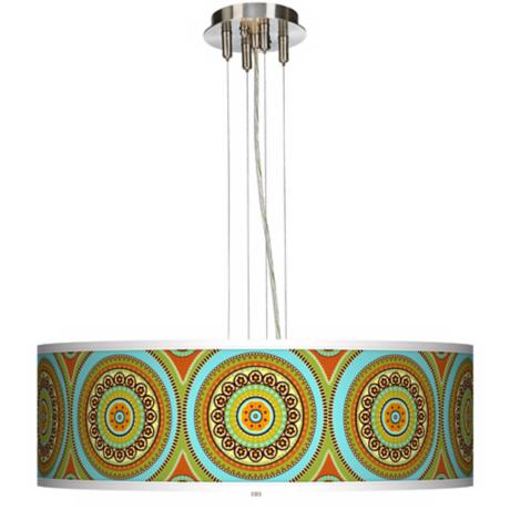 "Stacy Garcia Arno Mosaic Daybreak 24"" Wide Pendant Light"
