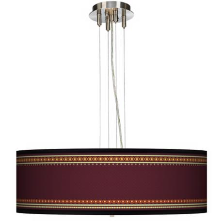 "Stacy Garcia Ebro Garnet 24"" Wide 4-Light Pendant Light"