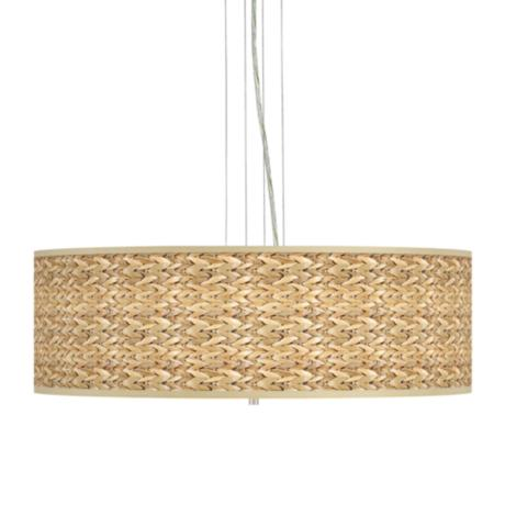 "Seagrass 24"" Wide 4-Light Pendant Chandelier"