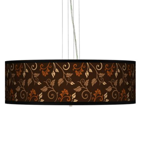"Foliage 24"" Wide 4-Light Pendant Chandelier"