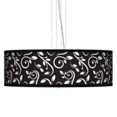 "Swirling Vines 24"" Wide 4-Light Pendant Chandelier"