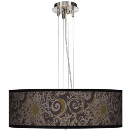 "Stacy Garcia Ornament Metal 24"" Wide 4-Light Pendant Light"