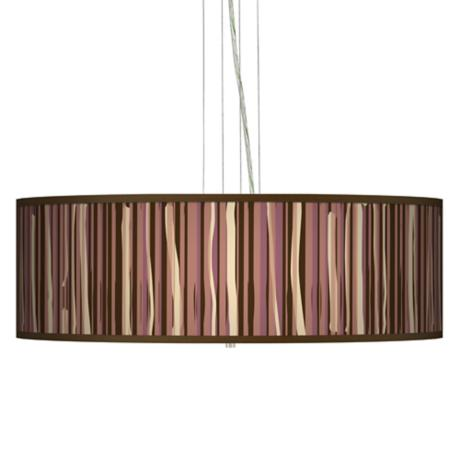 "Kalahari Lines 24"" Wide 4-Light Pendant Chandelier"