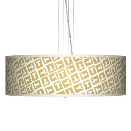 "Tee Tumble 24"" Wide 4-Light Pendant Chandelier"