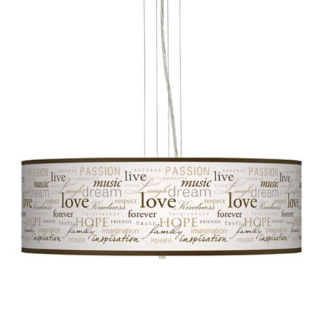 "Positivity 24"" Wide 4-Light Pendant Chandelier"