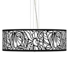 "Jungle Moon 24"" Wide 4-Light Pendant Chandelier"