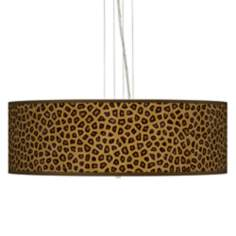 "Safari Cheetah 24"" Wide 4-Light Pendant Chandelier"