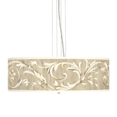 "Brushed Nickel Laurel Court 24"" 4-Light Pendant Chandelier"