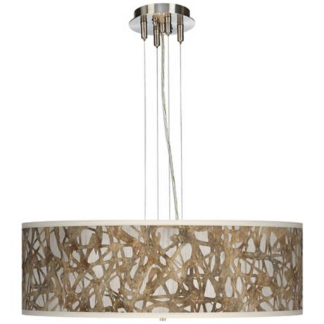 "Organic Nest Giclee 24"" Wide 4-Light Pendant Chandelier"