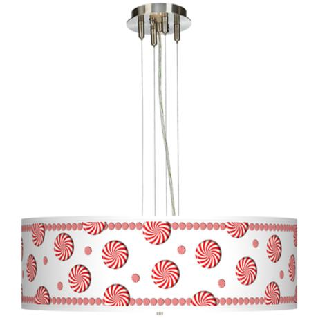 "Peppermint Pinwheels 24"" Wide 4-Light Pendant Chandelier"