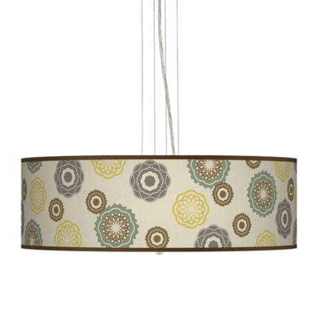 "Ornaments Linen 24"" Wide 4-Light Pendant Chandelier"