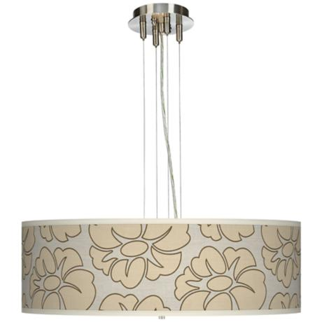 "Floral Silhouette 24"" Wide 4-Light Pendant Chandelier"