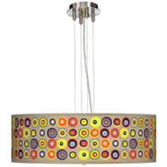 "Marbles in the Park 24"" Wide Four Light Pendant Chandelier"