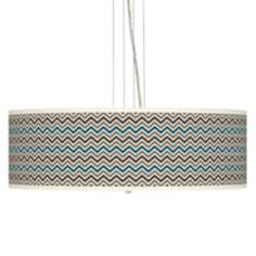 "Zig Zag 24"" Wide 4-Light Pendant Chandelier"