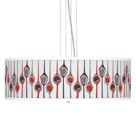 "Shutter 24"" Wide 4-Light Pendant Chandelier"