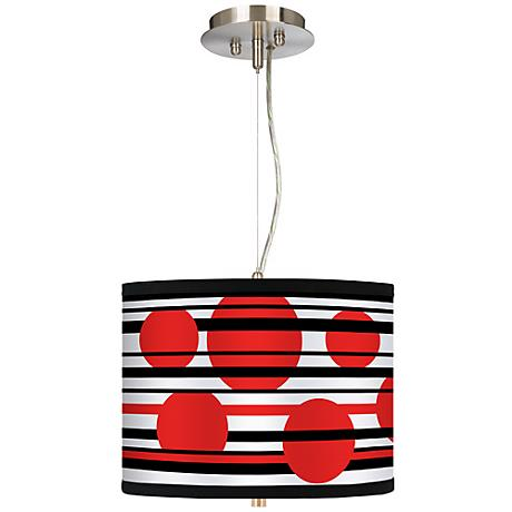 "Red Balls 13 1/2"" Wide Pendant Chandelier"