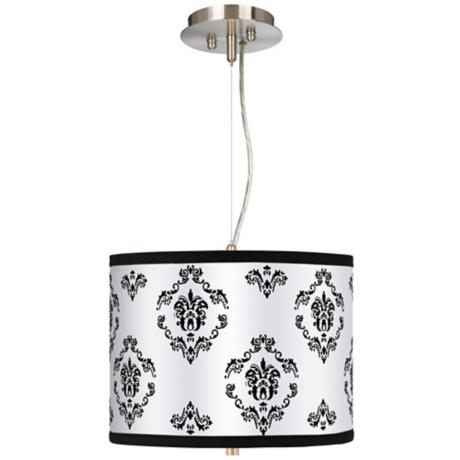 "French Crest 13 1/2"" Wide 2-Light Pendant Drum Chandelier"