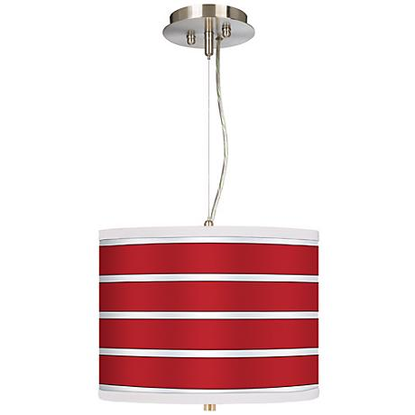 "Bold Red Stripes 13 1/2"" Wide 2-Light Pendant Chandelier"
