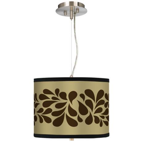 "Brown Splash on Tan 13 1/2"" Wide Pendant Chandelier"