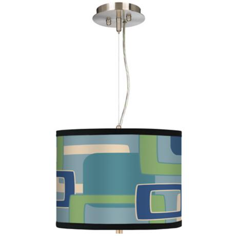 "Retro Rectangles 13 1/2"" Wide Pendant Chandelier"