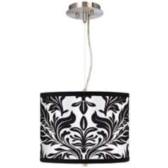 "Black Tapestry 13 1/2"" Wide Pendant Chandelier"